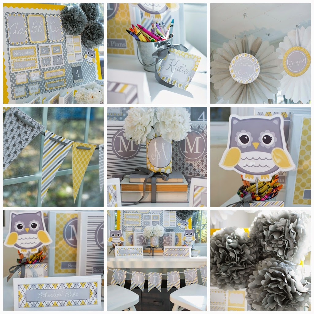 Classroom Decor Gray ~ Schoolgirl style reveal yellow and gray classroom couture